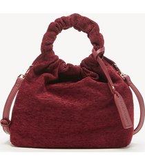 women's tyll mini crossbody bag ruched velvet garnet velvet vegan leather from sole society