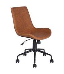 cadeira de escritório secretária giratória adams marrom