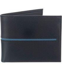 billetera básica de cuero para hombre 07819