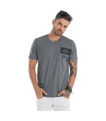 camiseta assimétrica branco (30000) g cinza