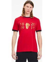 ac milan 120-jarig bestaan t-shirt voor heren, rood/goud/aucun, maat xxl | puma