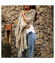cotton shawl, 'sand plaid' (indonesia)