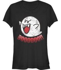 fifth sun nintendo women's super mario boos jump scare short sleeve tee shirt