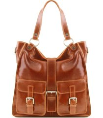 tuscany leather tl140928 melissa - borsa donna in pelle miele