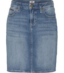 classic denim skirt blue