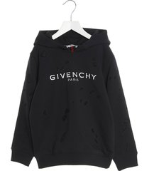 givenchy logo destroyed hoodie