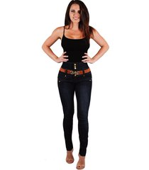 women jeans butt lift  high rise jeans with colombian design 14238
