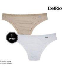 kit 2 calcinhas delrio duo fresh baby feminina - feminino