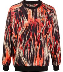 vivienne westwood flame-print cotton sweatshirt - orange