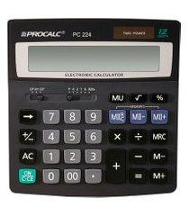calculadora de mesa procalc pc224 12 dígitos solar preto