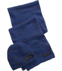 calvin klein men's marled beanie & scarf set