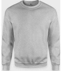 bluza klasyczna (bez nadruku, gładka) - szara (melanż)