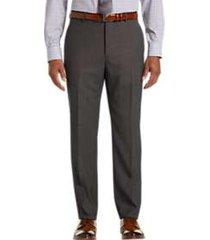 awearness kenneth cole awear-tech brown slim fit dress pants