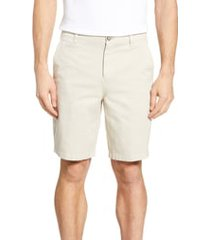 men's johnnie-o neal stretch twill shorts, size 34 - brown