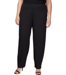 alex evenings plus size slim-leg crepe pants