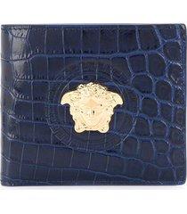 versace medusa head wallet - blue