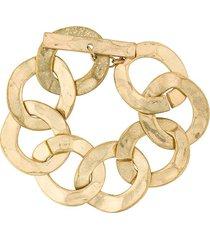 rewind vintage affairs 1970's link bracelet - metallic