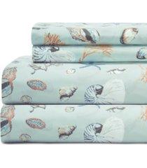 coastal 4-pc. printed queen sheet set bedding