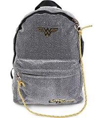 mochila escolar infantil luxcel mulher maravilha