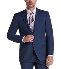 calvin klein blue tic slim fit suit