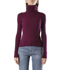 saint laurent ribbed polo neck cashmere sweater