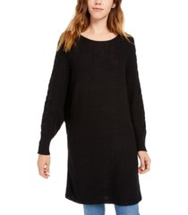 american rag juniors' lace-up tunic sweater, created for macy's