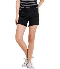 women's l.j.j. basic cutouff denim shorts, size x-small - black