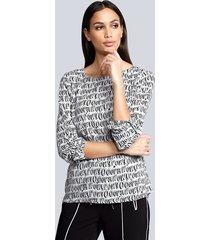 blouse alba moda wit::zwart