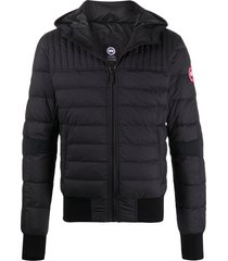 canada goose long sleeve fitted puffer jacket - black