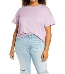 plus size women's madewell sorrel whisper ringer t-shirt, size 1x - purple