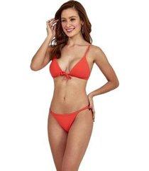 biquini new beach poliéster dots cortina feminino - feminino