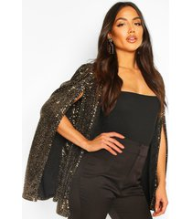 sequin cape, gold