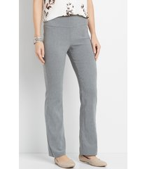 maurices womens pull on gray bengaline bootcut pants