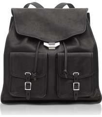 rag & bone black leather field backpack