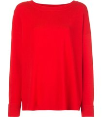 alice+olivia ruela split back pullover - red