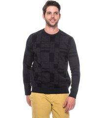 suéter slim jacquard passion tricot drew black star