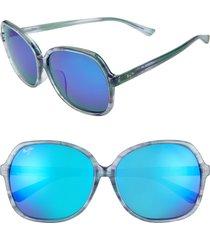 women's maui jim taro 59mm polarizedplus2 round sunglasses -