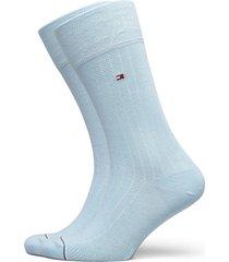 th men sock 2p rib underwear socks regular socks blå tommy hilfiger