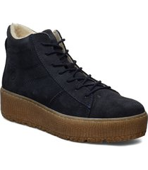 woms boots shoes boots ankle boots ankle boot - flat blå tamaris