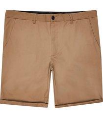 river island mens big and tall brown skinny fit chino shorts