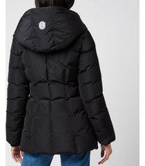 mackage women's adali-nfr hooded down jacket - black - l