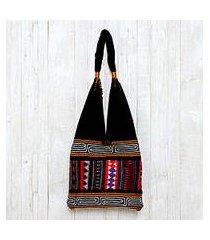 cotton shoulder bag, 'mesmerizing thai' (thailand)