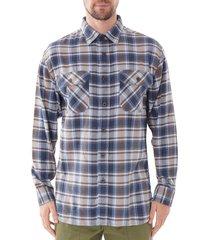 burnside flannel shirt - light blue a339-79022