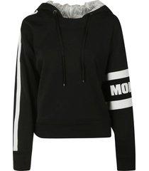 moncler sleeve logo print hoodie