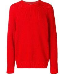 ami raglan sleeves crew neck sweater - red