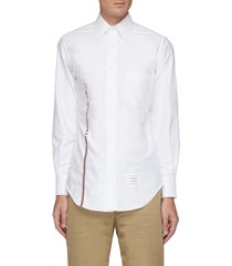 embroidered stripe oxford shirt