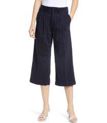 women's paige clarice pleated culotte pants, size 24 - black