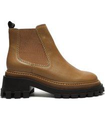 ann leather bootie - 11 camel vegatable soft