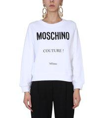 moschino crew neck sweatshirt