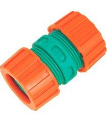 ligação reparadora para mangueira 1/2'' laranja e verde